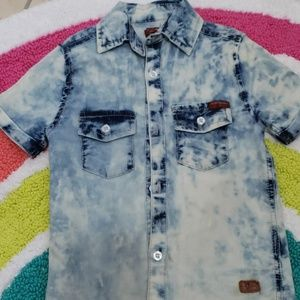 7 for all mankind short sleeve button down
